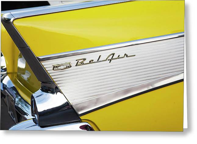 Bel Air Tail Fin Greeting Card by Toni Hopper