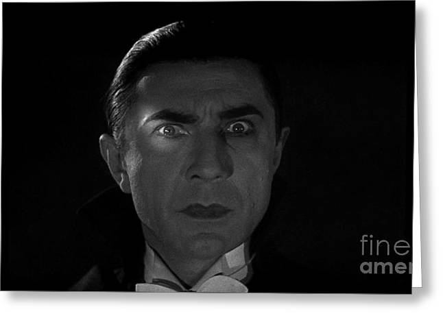 Bela Lugosi  Dracula 1931 And His Piercing Eyes Greeting Card by R Muirhead Art