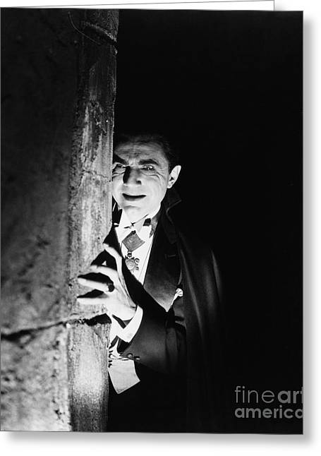 Bela Lugosi Dracula Greeting Card by R Muirhead Art