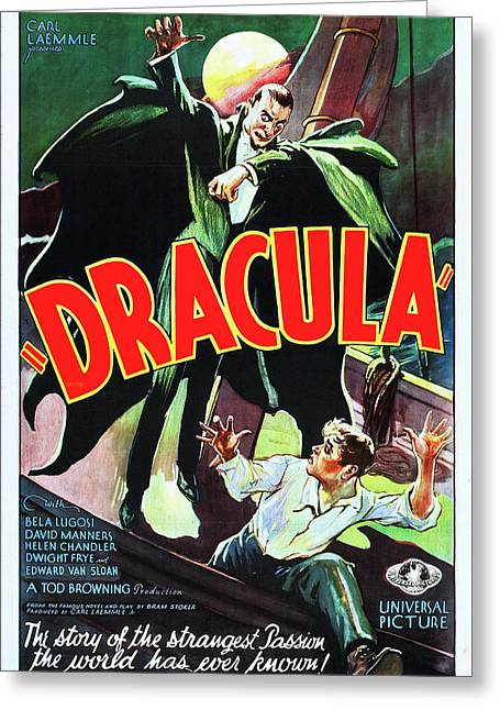 Bela Lugosi In Dracula 1931 Greeting Card by Mountain Dreams