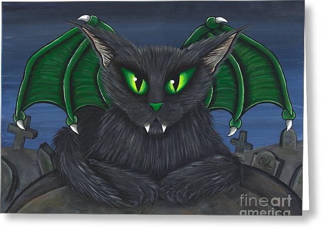 Bela Vampire Cat Greeting Card