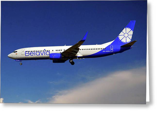 Belavia Boeing 737-8zm Greeting Card