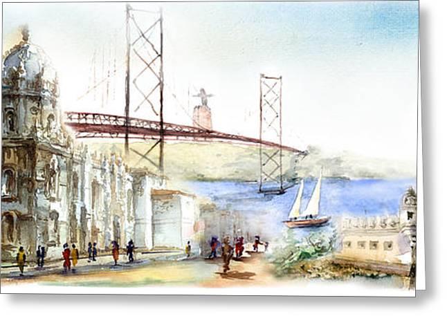 Belem Monuments Lisbon Greeting Card