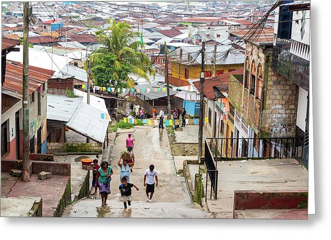 Belen Neighborhood In Iquitos, Peru Greeting Card by Jess Kraft