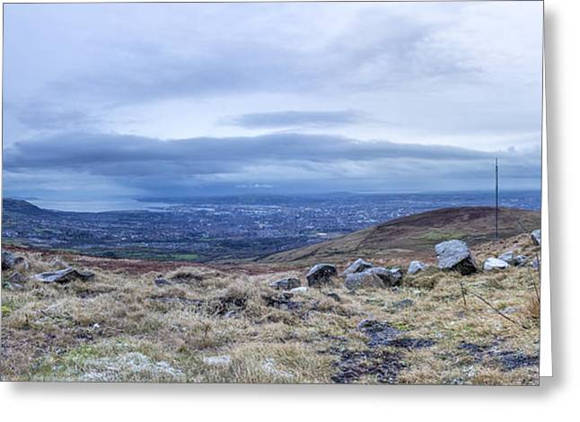 Belfast Lough From Divis Mountain Greeting Card
