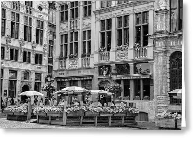 Belgian Lunch In The Square Greeting Card