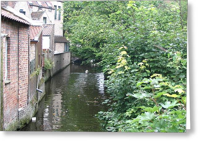 Belgium Bruges 03 Greeting Card by Yvonne Ayoub
