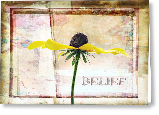 Layer Pyrography Greeting Cards - Belief Greeting Card by Olga Osi