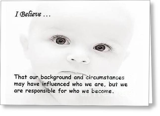 Believe Greeting Card by Bella Mine