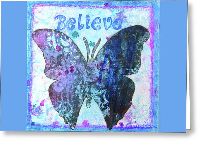 Believe Butterfly Greeting Card