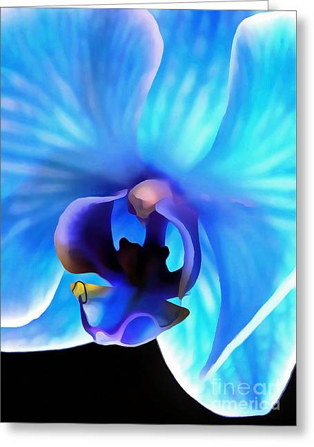 Believe In Blue Greeting Card by Krissy Katsimbras