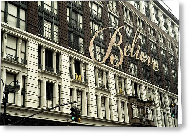 Believe Greeting Card by John Rizzuto