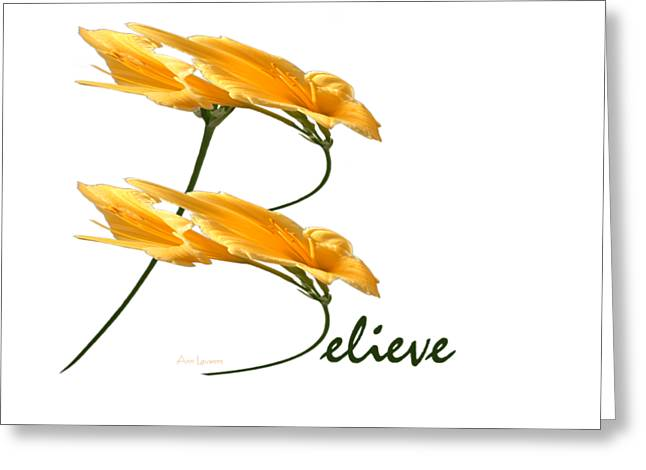 Believe Shirt Greeting Card