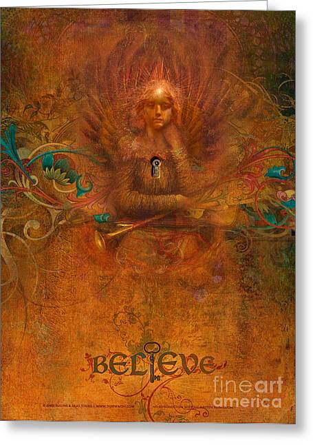 Believe Greeting Card by Silas Toball