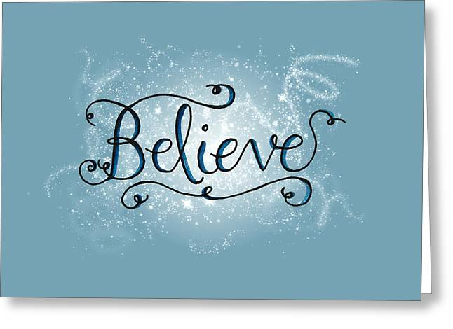 Believe Winter Art Greeting Card
