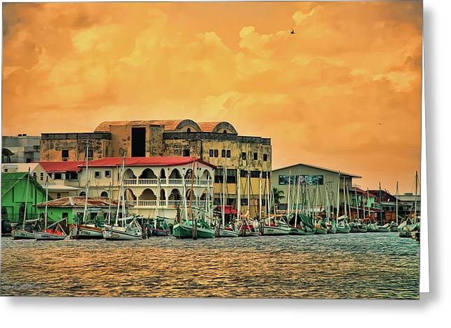 Belize City Harbor Greeting Card