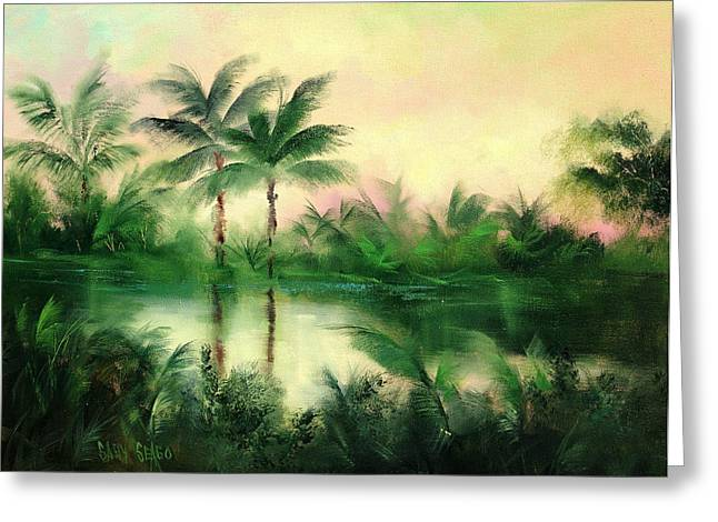 Belize River Greeting Card by Sally Seago