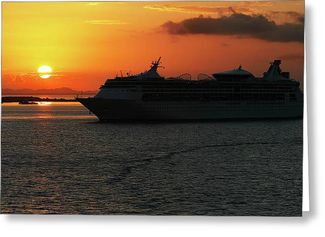 Belize Sunset Greeting Card