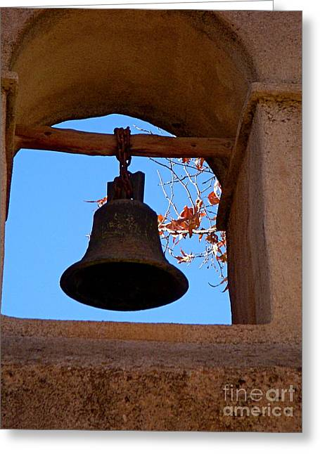 Bell Greeting Card by Amy Strong
