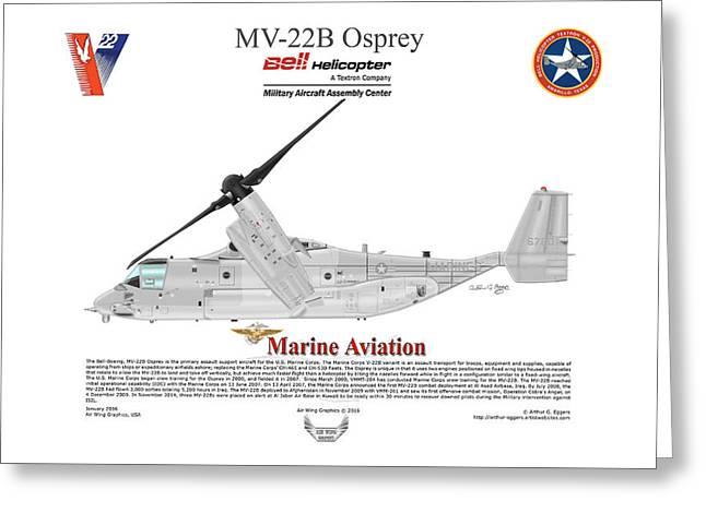 Bell Boeing Mv-22b Osprey 166720 Greeting Card by Arthur Eggers
