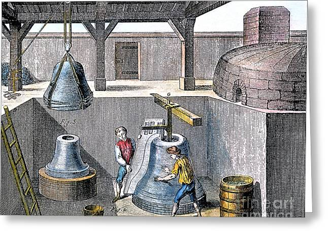 Bell Casting, 1763 Greeting Card