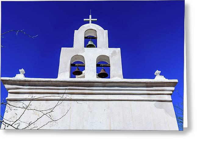 Bell Chapel - San Xavier Mission - Tucson Arizona Greeting Card