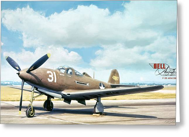 Bell P-39 Airacobra Greeting Card