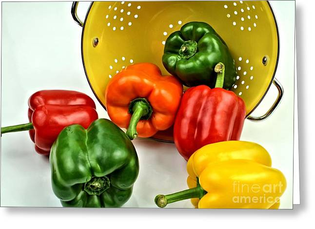 Bell Peppers Greeting Card by Jimmy Ostgard
