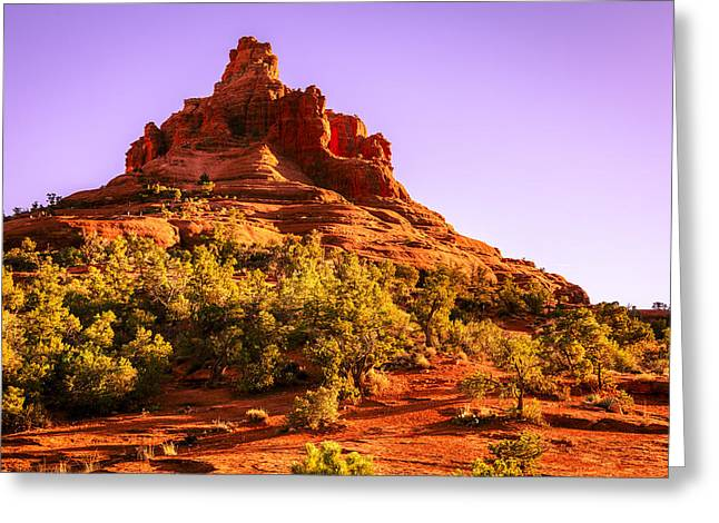 Bell Rock In Sedona Greeting Card by Alexey Stiop