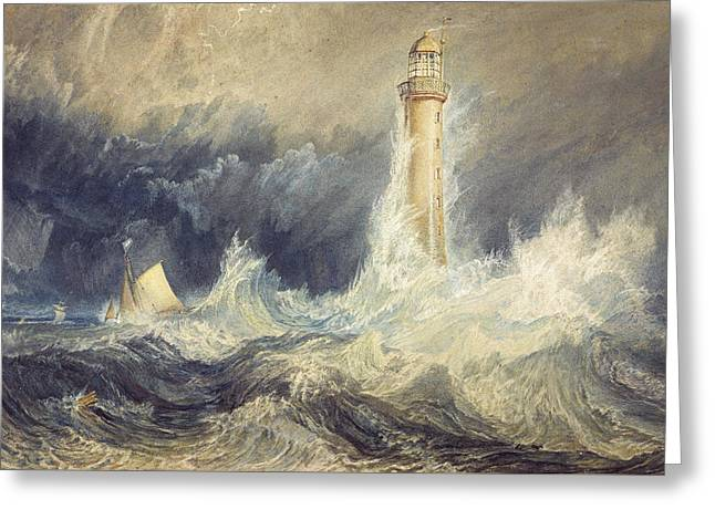 Bell Rock Lighthouse Greeting Card by Joseph Mallord William Turner