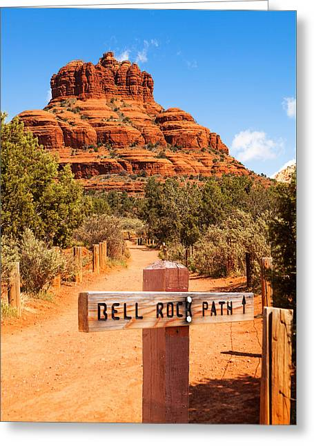 Bell Rock Path In Sedona Arizona Greeting Card by Susan Schmitz