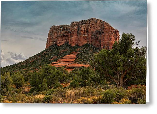 Greeting Card featuring the photograph Courthouse Butte - Sedona  by Saija Lehtonen