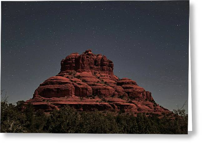 Bell Rock With Stars Greeting Card by Donna Kennedy