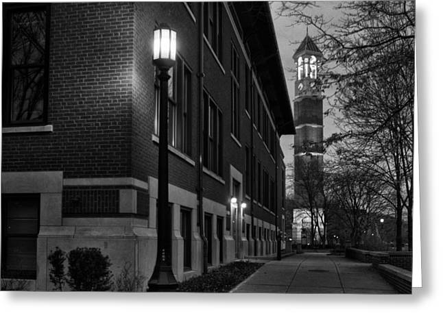 Bell Tower At Night Greeting Card