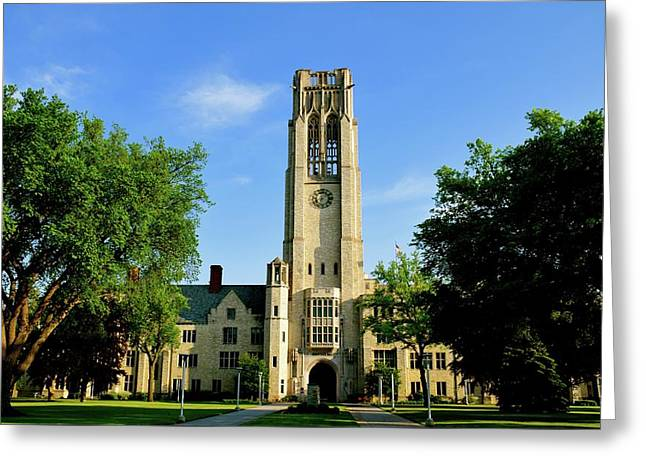 Bell Tower At The University Of Toledo Greeting Card
