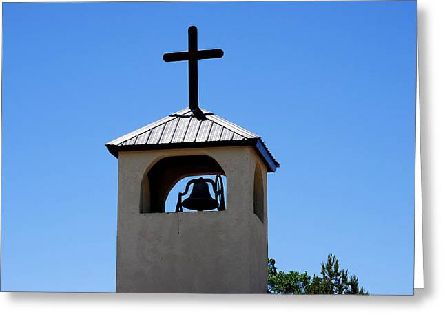 Bell Tower Greeting Card by Jon Rossiter