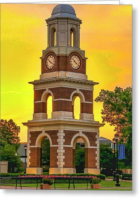 Bell Tower At Christopher Newport University C N U Greeting Card