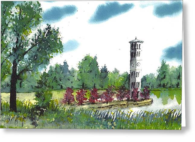 Bell Tower One Greeting Card