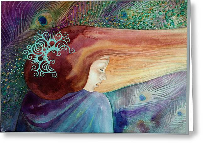 Greeting Card featuring the painting Bella Aurora by Ragen Mendenhall