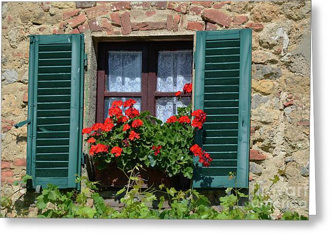 Bella Italian Window  Greeting Card