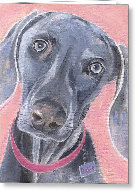 Greeting Card featuring the painting Bella by Jamie Frier