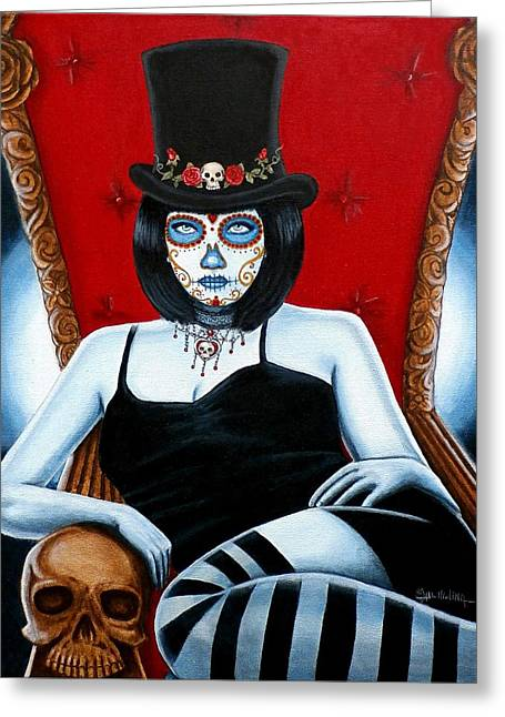 Greeting Card featuring the painting Bella Muerte 2016 by Al  Molina