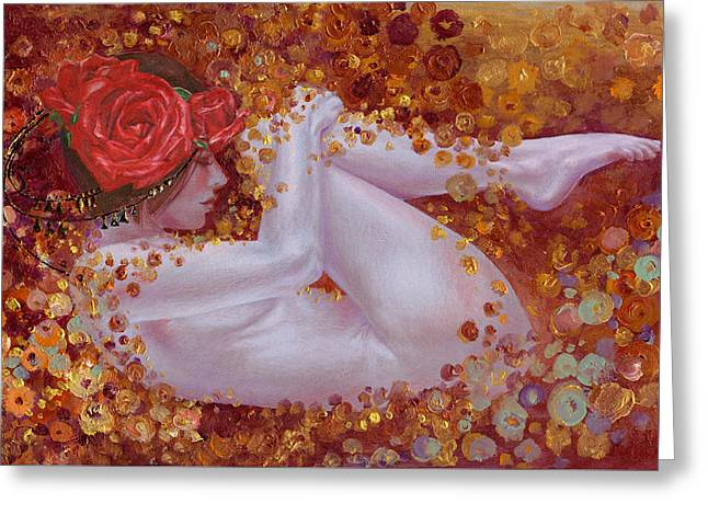 Greeting Card featuring the painting Bella Rose by Ragen Mendenhall
