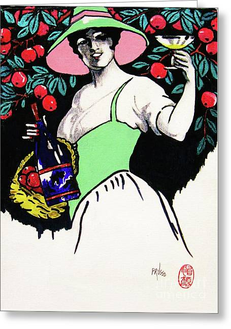 Belladonna And Apples Greeting Card by Roberto Prusso