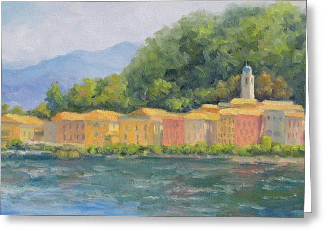 Bellagio - Pearl Of Lake Como Greeting Card by Bunny Oliver