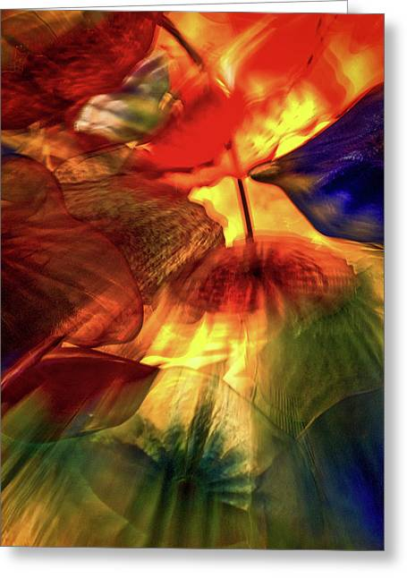 Bellagio Ceiling Sculpture Abstract Greeting Card by Stuart Litoff