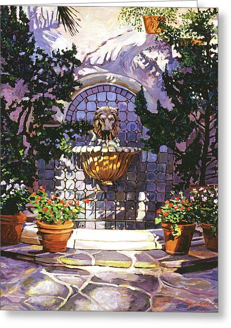 Bellagio Fountain Greeting Card by David Lloyd Glover
