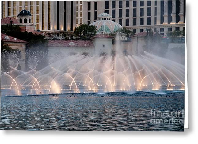 Bellagio Fountain Patterns 1 Greeting Card