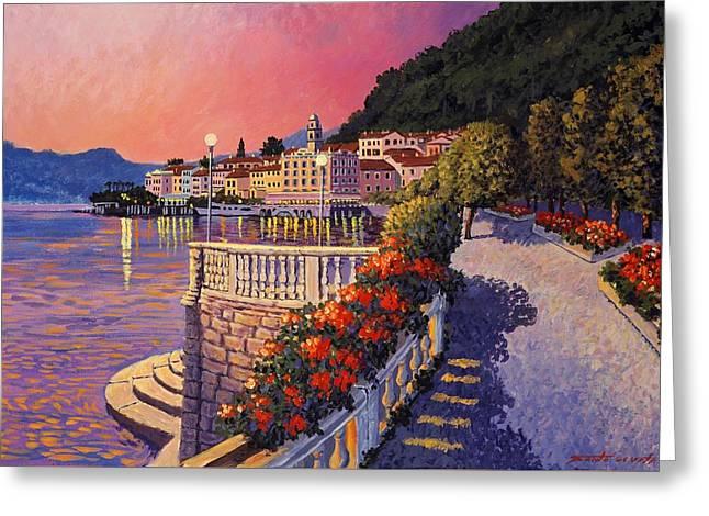 Bellagio Lake Como Greeting Card by Santo De Vita