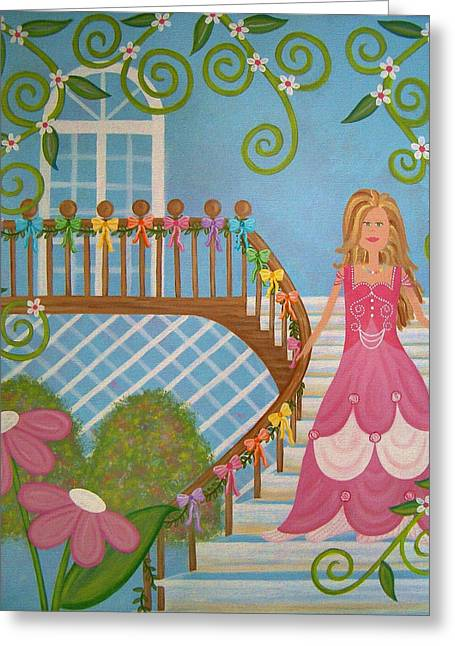 Belle Of The Ball Greeting Card by Samantha Shirley